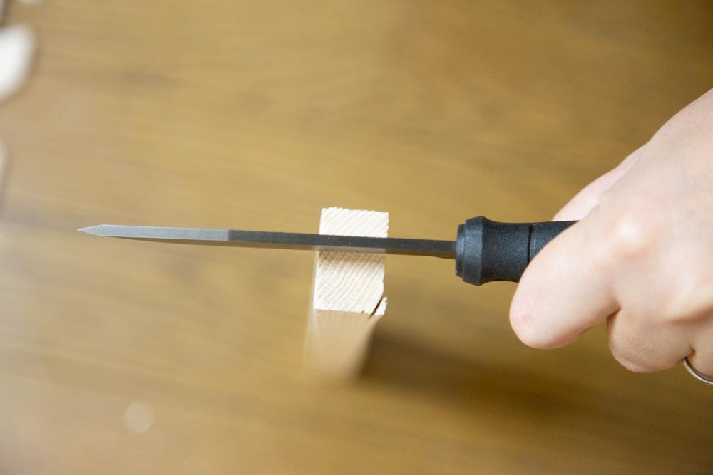 バトニングナイフの位置