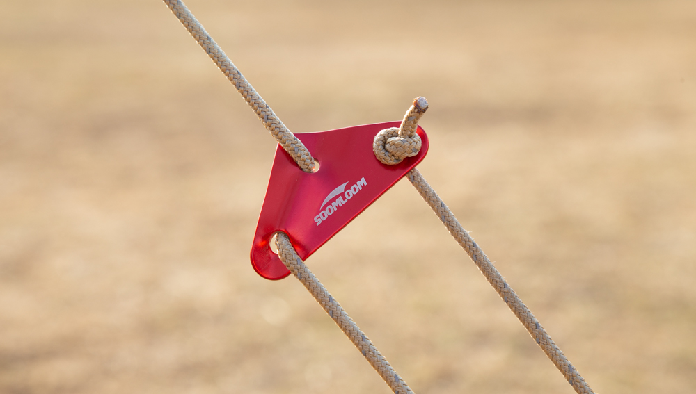 Soomloom タープ ガイドロープ 自在金具