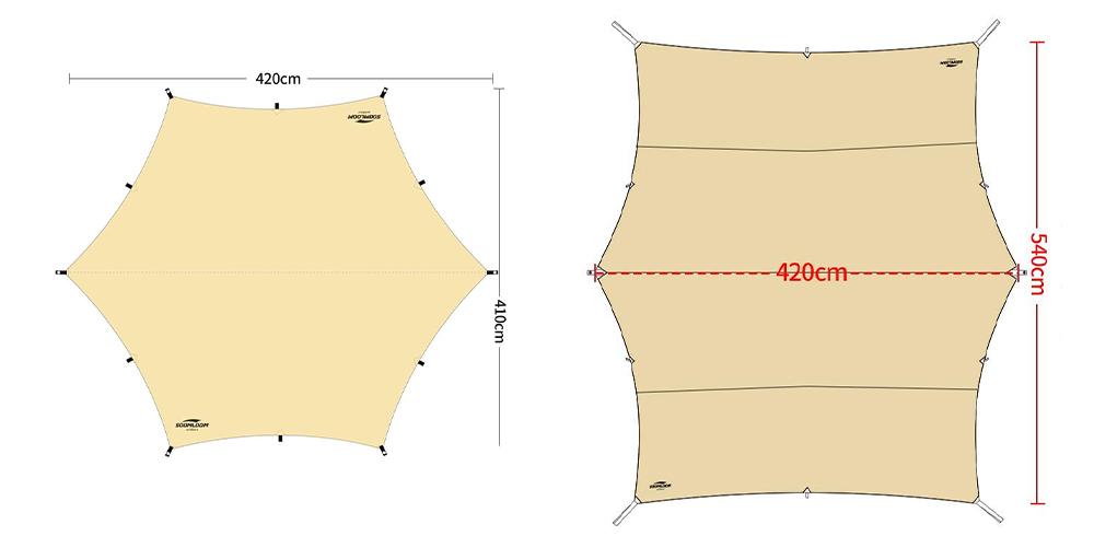 Soomloom ヘキサタープ 比較